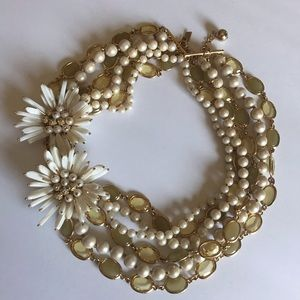 Kate spade gold pearl flower necklace